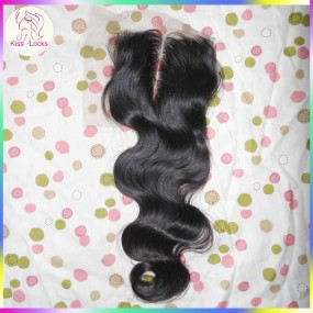 Laotian Hair Lace Closure Raw Virgin Hair Unprocessed 150% heavier density,Natuarl colors